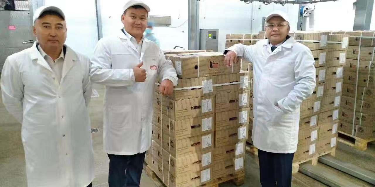 首柜24分体哈萨克斯坦牛肉经一带一路正在装运,即将起程前往中国